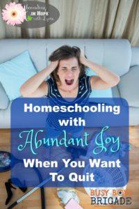 Homeschooling Frustration