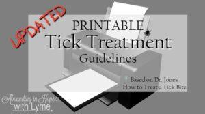 Printable Tick Treatment Guide