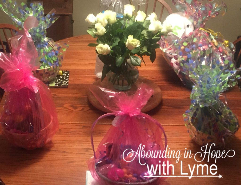 Easter Baskets on the Table