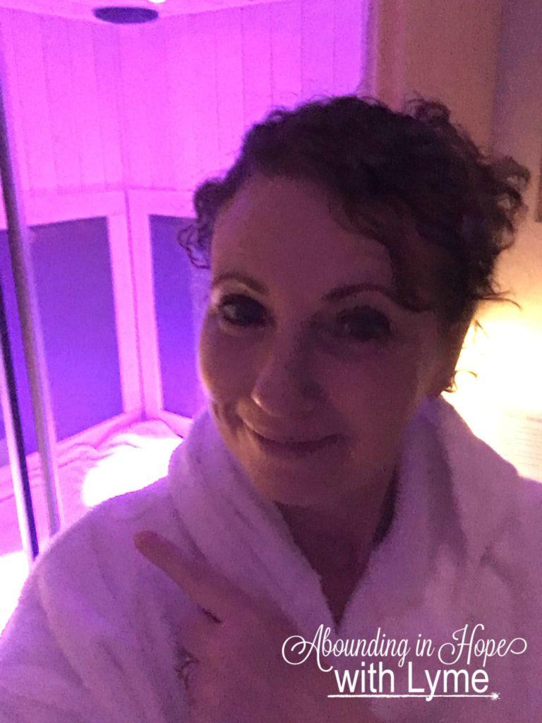 Tricia at the Infrared Sauna