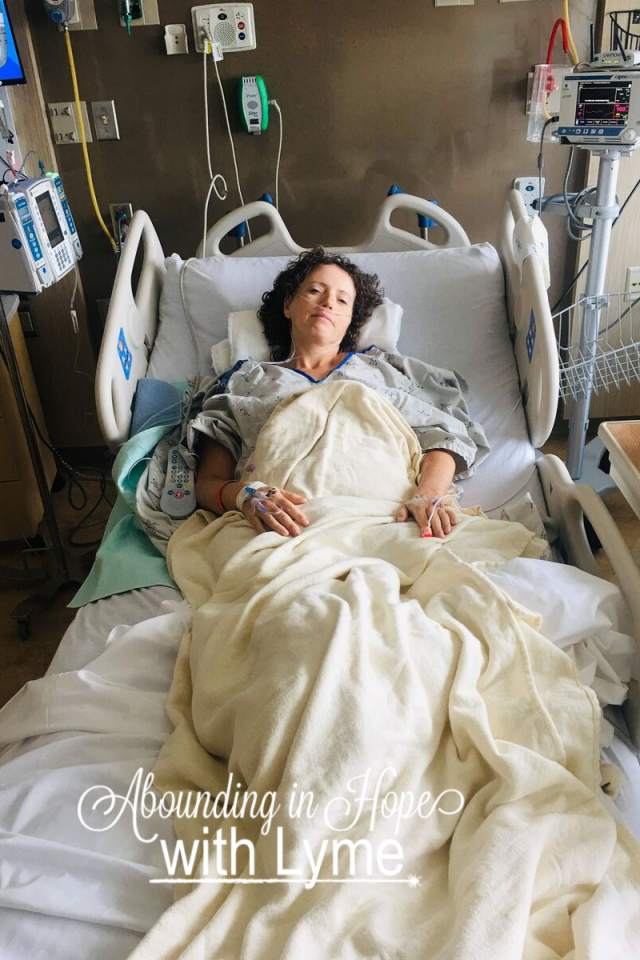 Tricia's post-operation picture. Colostomy take-down.