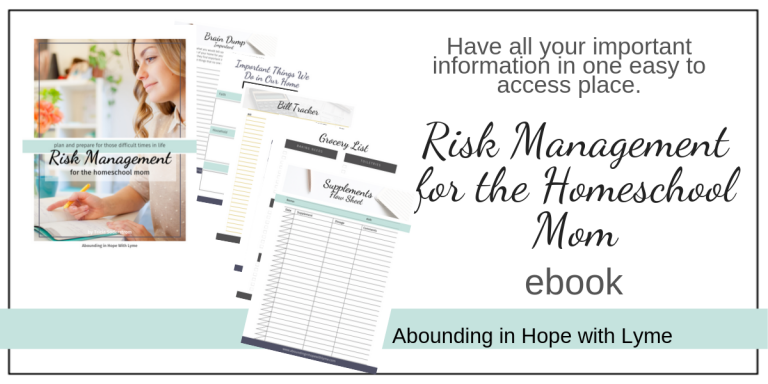 Risk Management for the Homeschool Mom