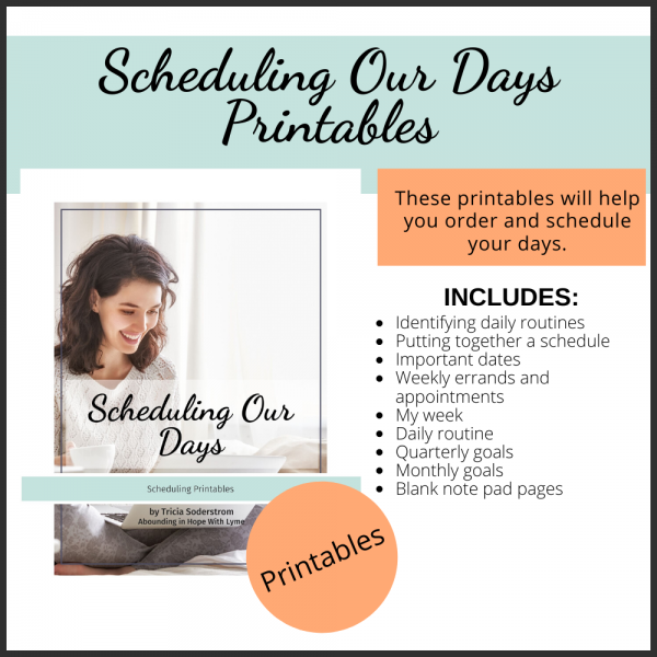 Scheduling Our Days Printables Square