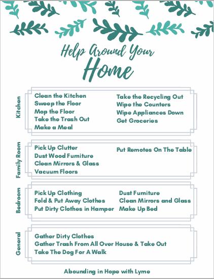 Printable Chore Sheet