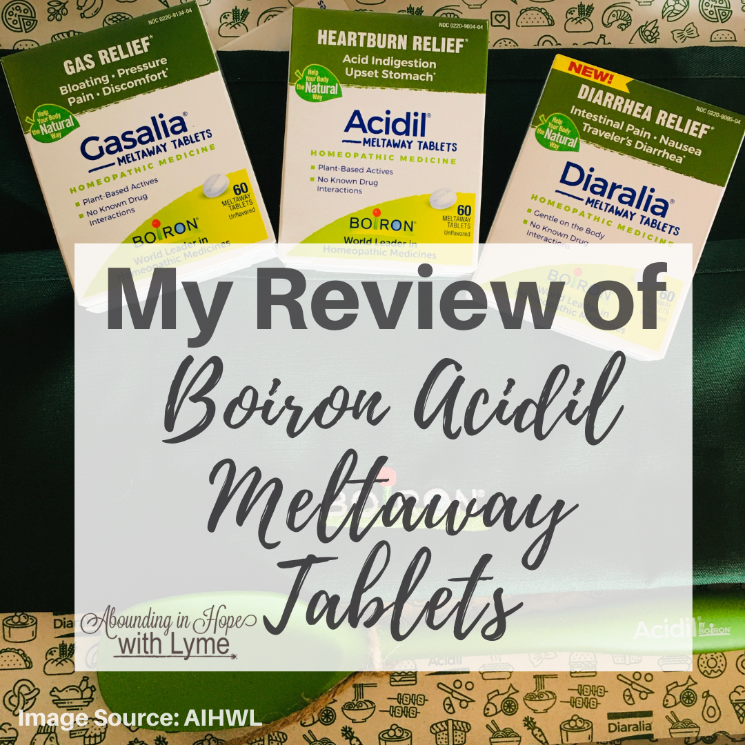 Review of Boiron Acidil Meltaway Tabs